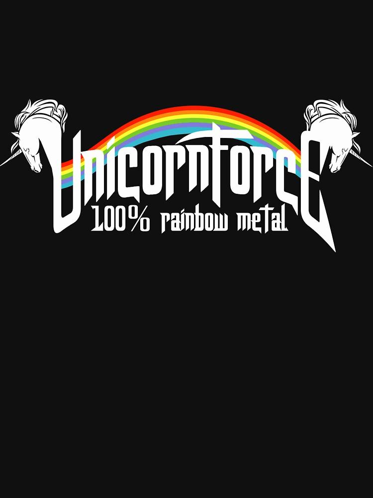 RedBubble: UnicornForce 100% Rainbow Metal