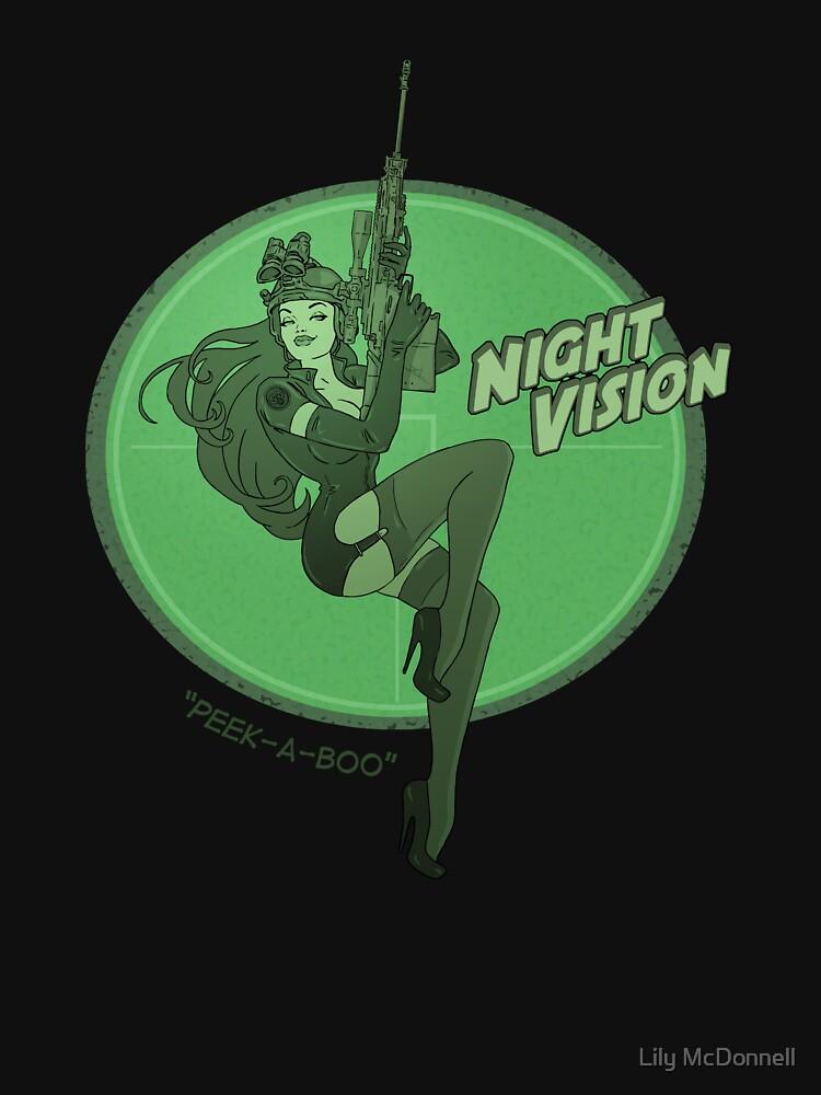 RedBubble: Night Vision Pin Up
