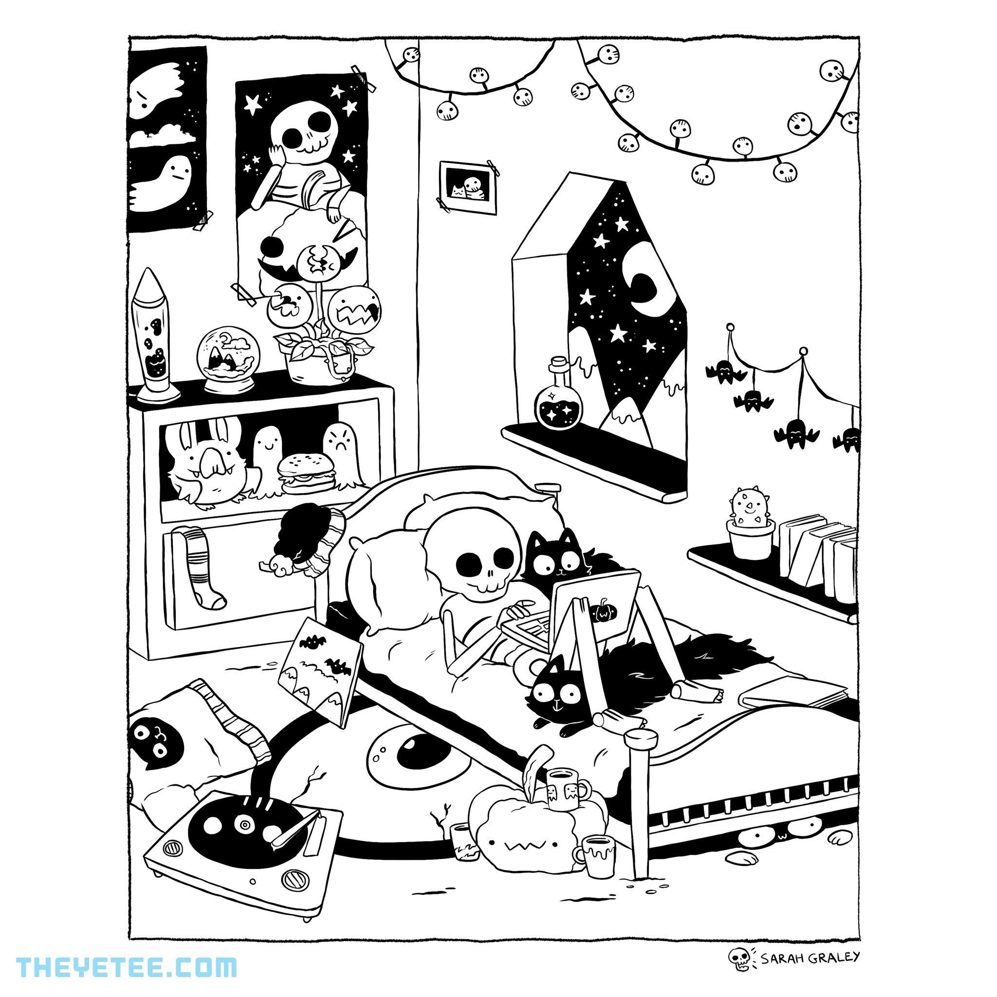 The Yetee: Skeleton Bedroom