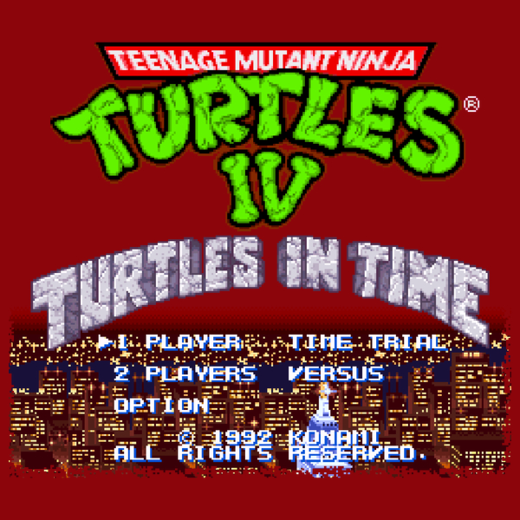 NeatoShop: Turtles In Time - Start Screen