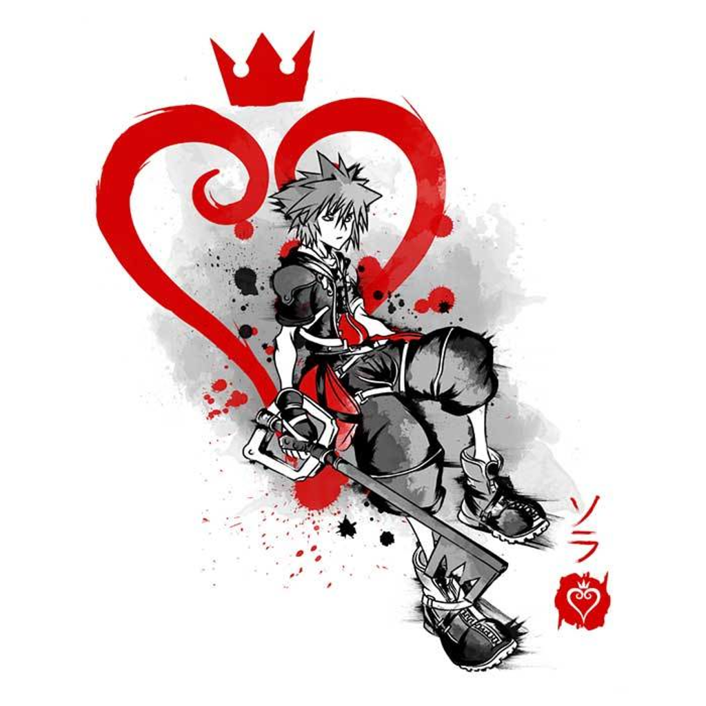 Once Upon a Tee: Keyblade Kingdom Sumi-e