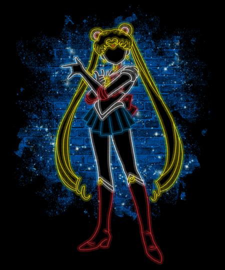 Qwertee: Neon Moon