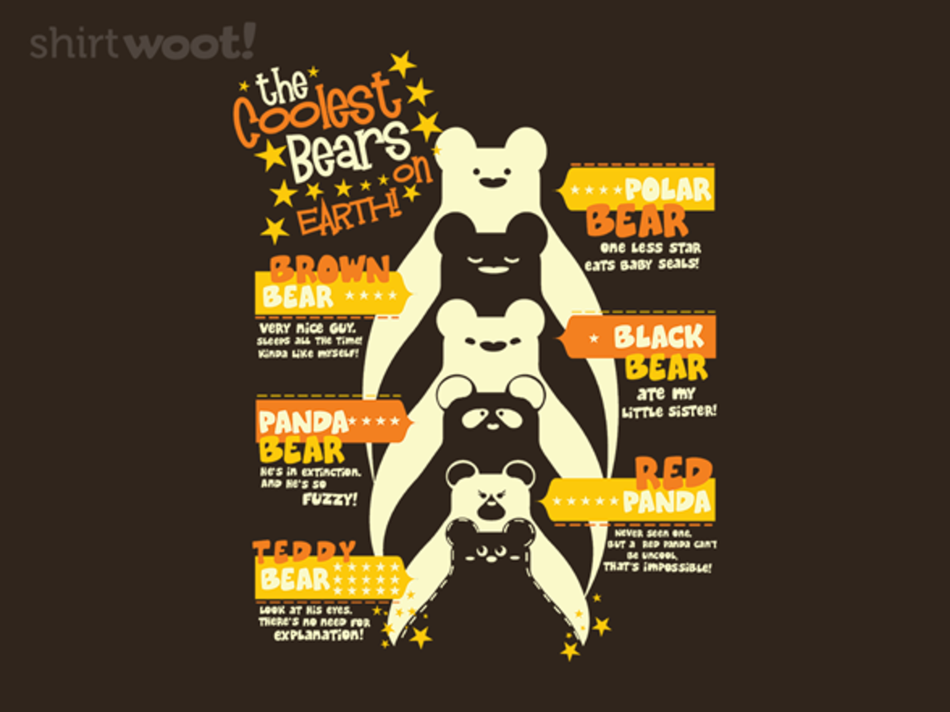 Woot!: The Coolest Bears - $8.00 + $5 standard shipping