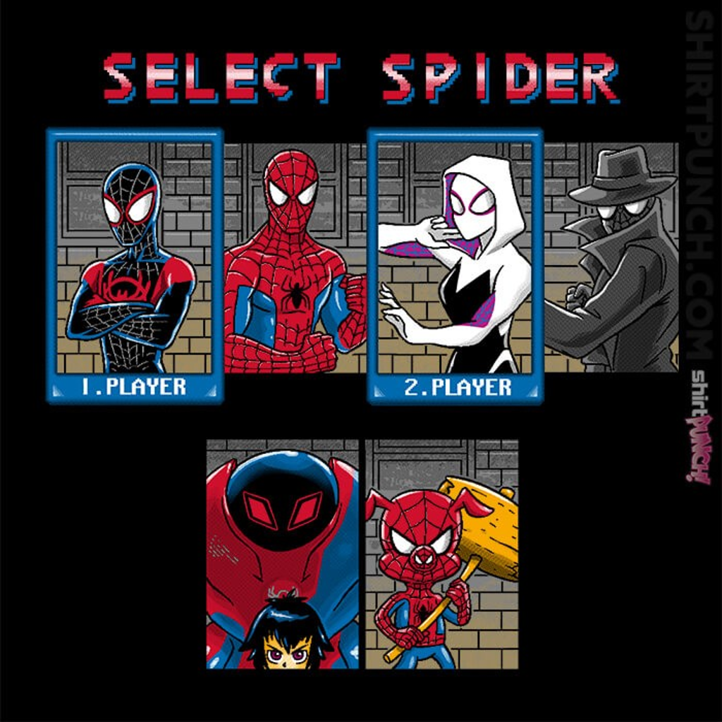 ShirtPunch: Select Spider