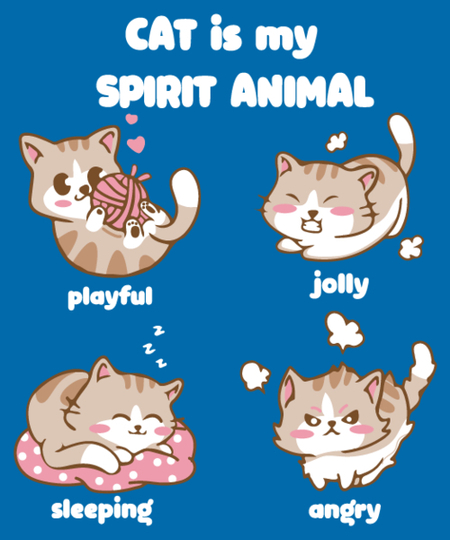 Qwertee: cat is my spirit animal