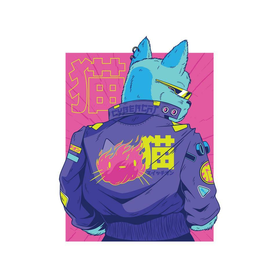 TeeFury: Cyberpunk Cat