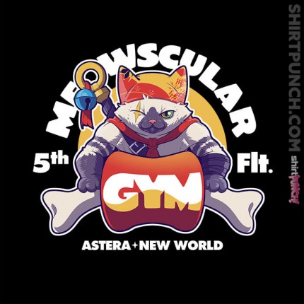 ShirtPunch: Meowscular Gym