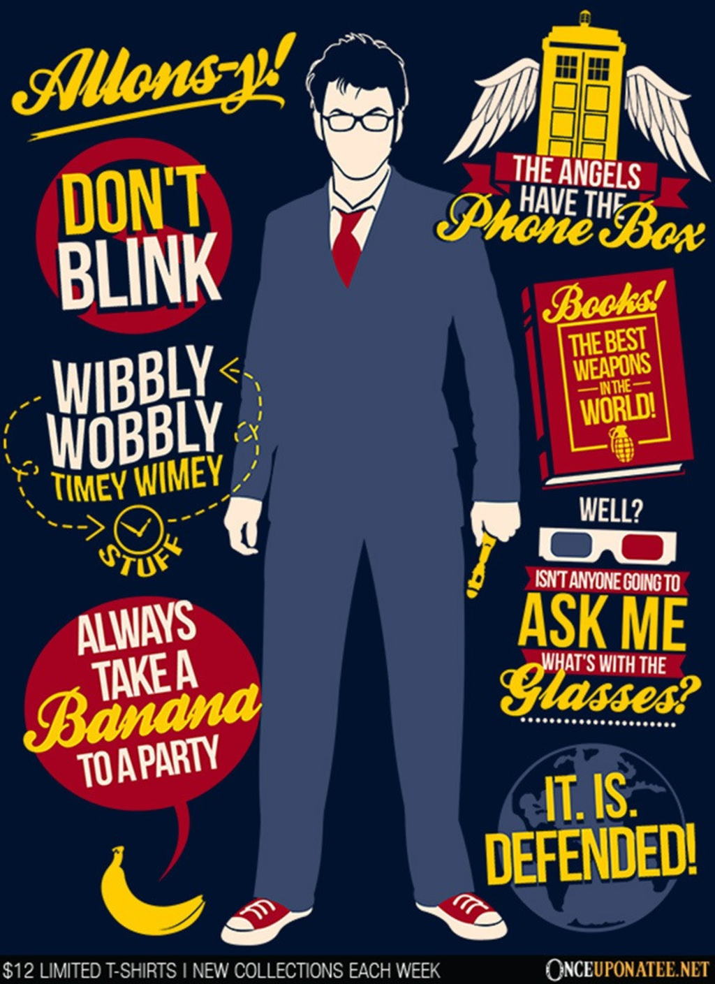 Once Upon a Tee: Tenth Doctor Quotes