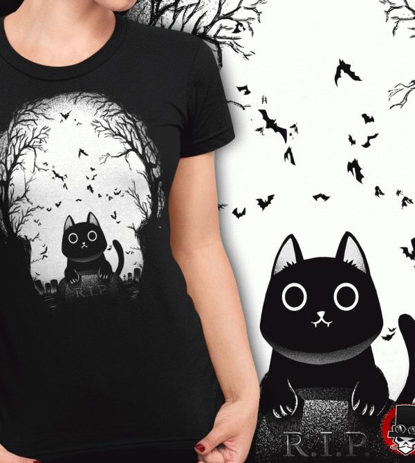 teeVillain: Graveyard Kitty