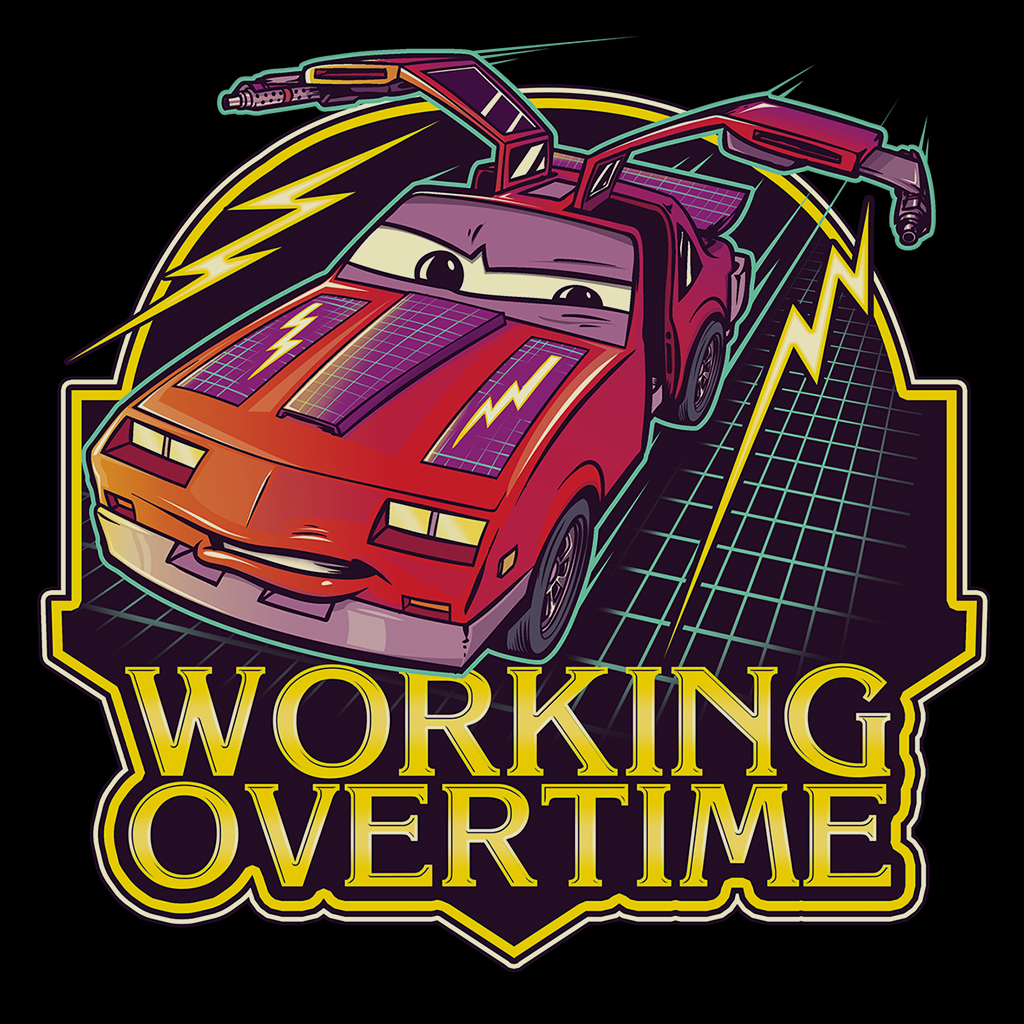 Pop-Up Tee: Working Overtime
