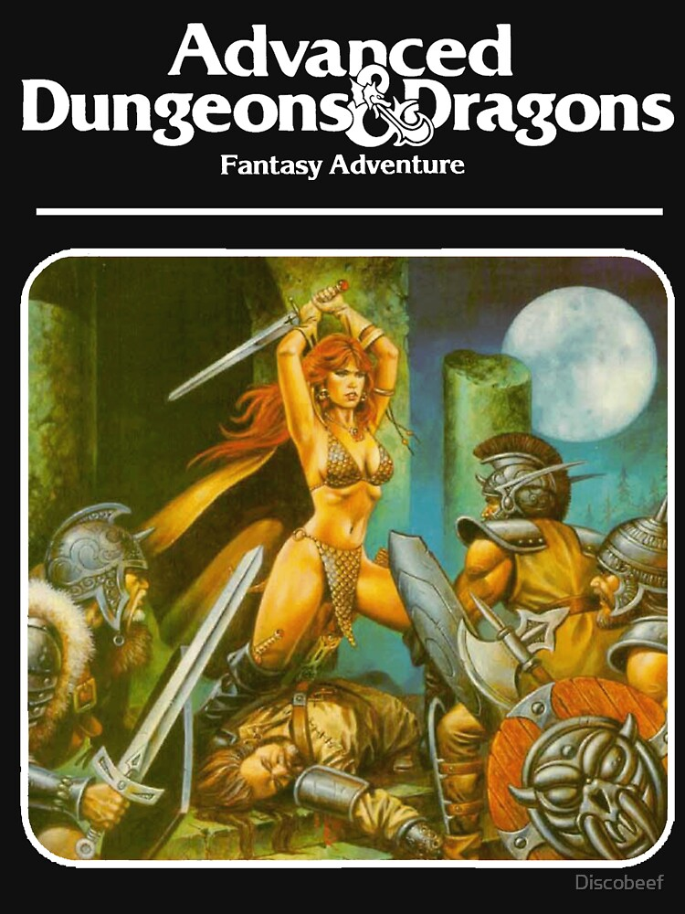 RedBubble: Advanced Dungeons & Dragons Red Sonja Module