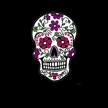 BustedTees: Day of the Dead Skull