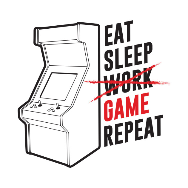 TeePublic: Eat, Sleep, Game, Repeat