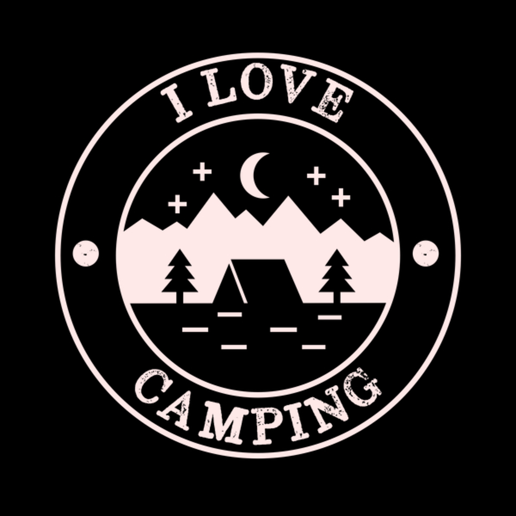 NeatoShop: Distressed Vintage I love camping
