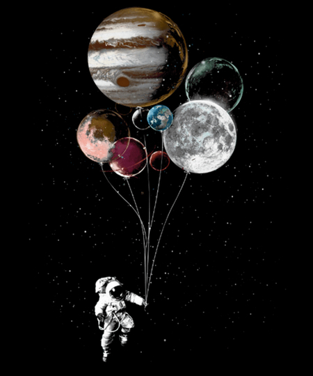 Qwertee: Planets Balloons