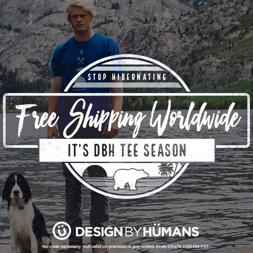 Design by Humans: Free Worldwide Shipping