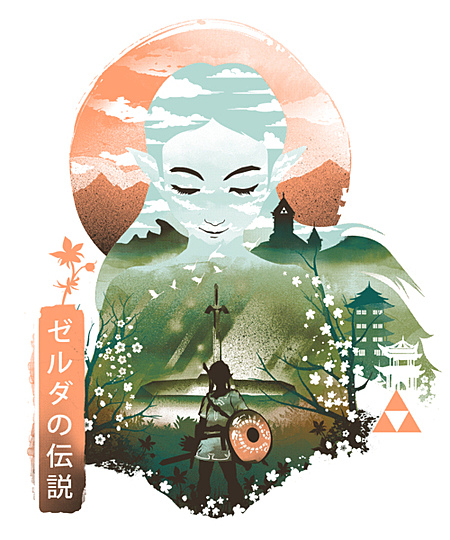 Qwertee: Princess Ukiyo e