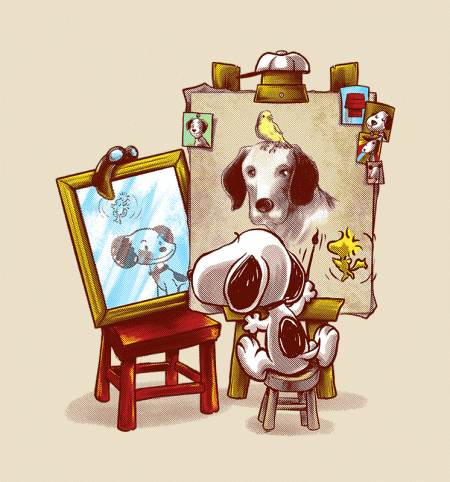 BustedTees: Triple Beagle Portrait