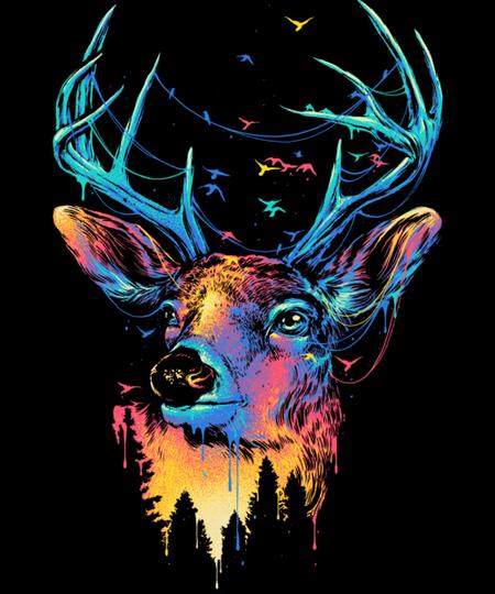 Qwertee: Colourful Deer