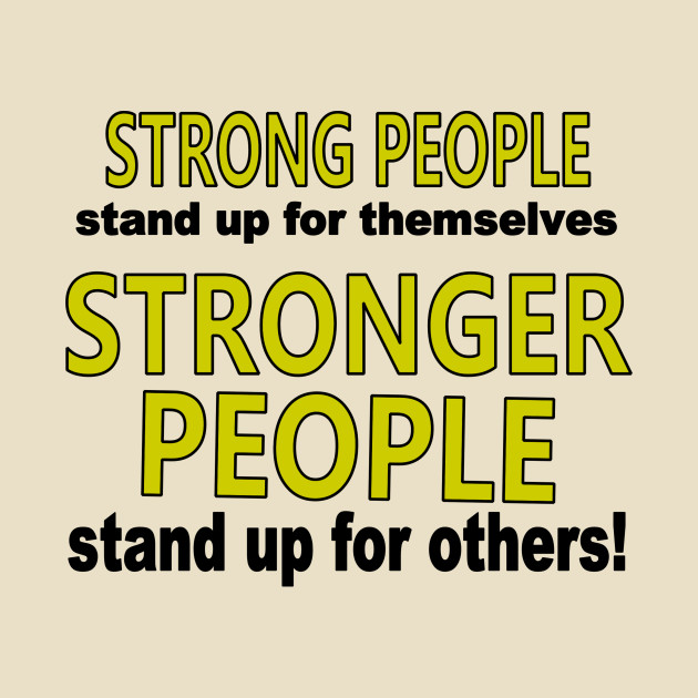 TeePublic: Strong People Stand Up
