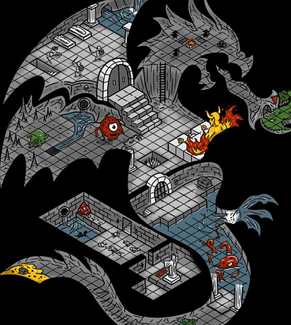 teeVillain: Dungeons in Dragons