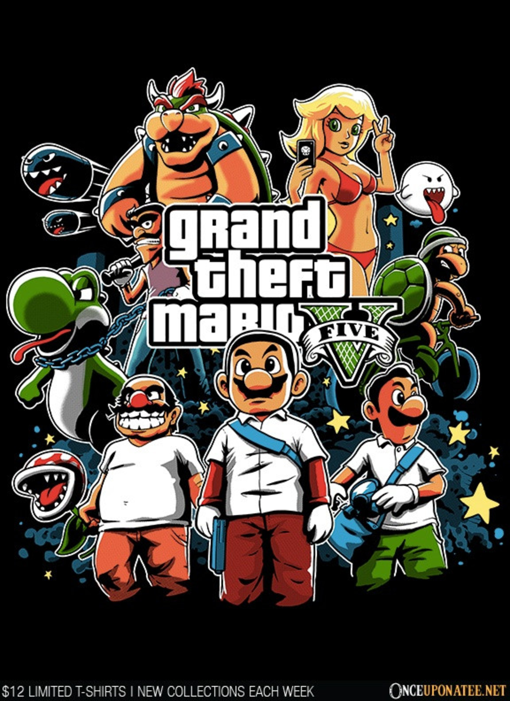 Once Upon a Tee: Grand Theft Mario