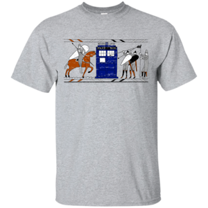 Pop-Up Tee: Nocens Lupus Tardis in the Bayeux Tapestry