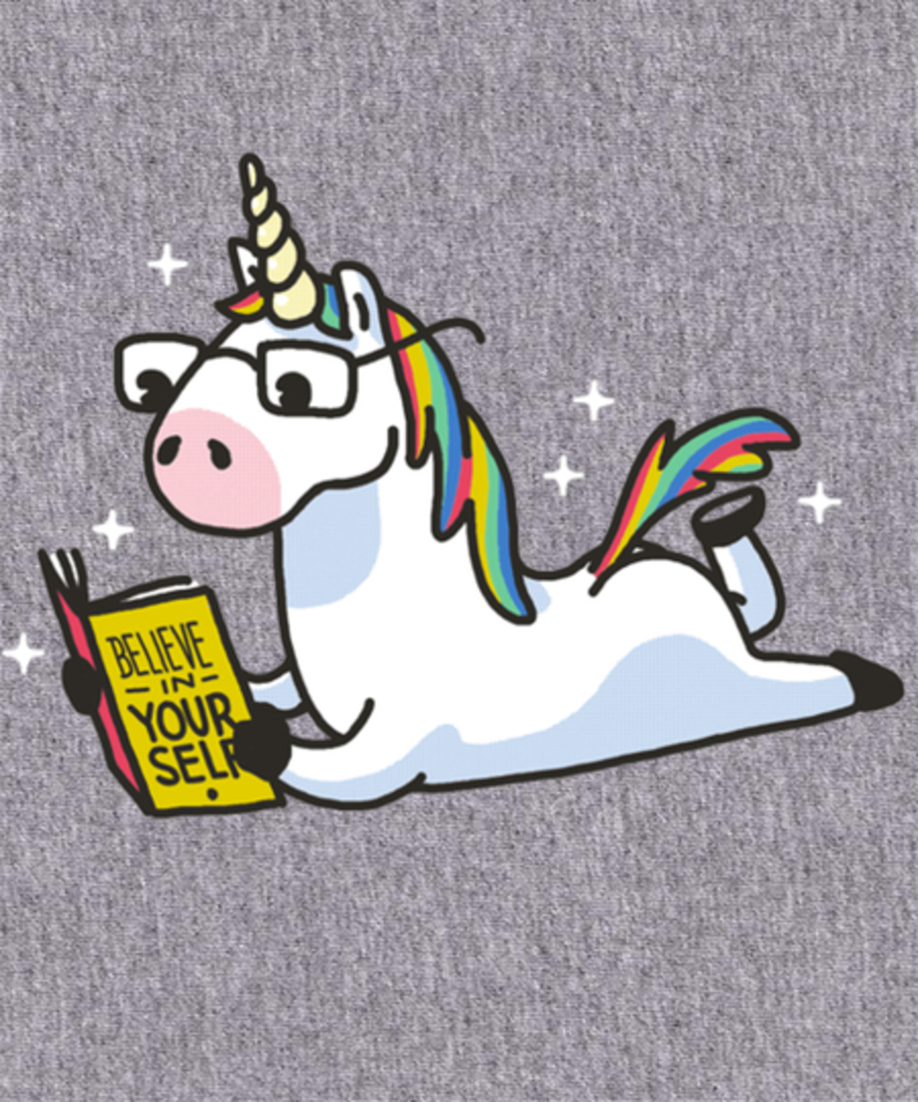 Qwertee: Unicorn Believe in Yourself