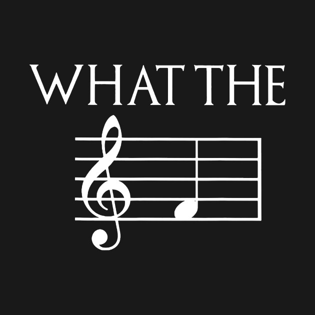 TeePublic: What The F Musical Note T-Shirt
