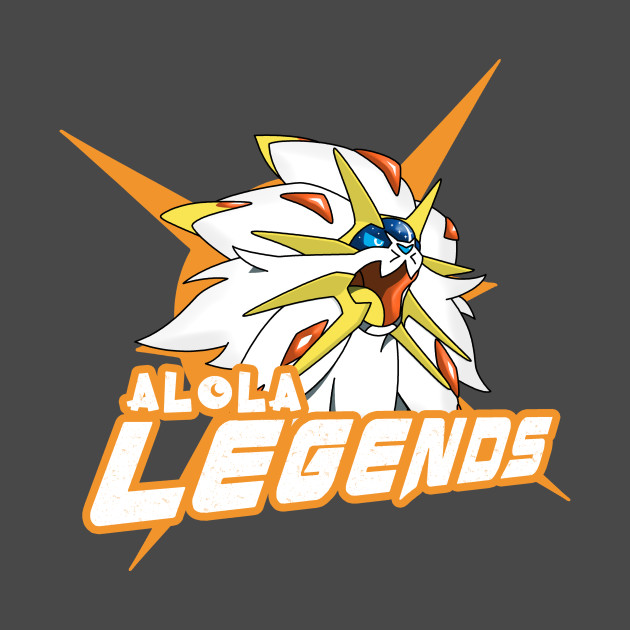 TeePublic: Alola Legends Pokémon Sun T-Shirt