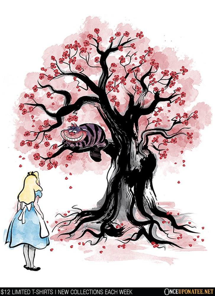 Once Upon a Tee: The Cheshire's Tree Sumi-e