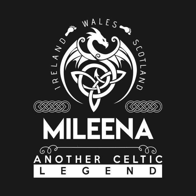 TeePublic: Mileena Name T Shirt - Another Celtic Legend Mileena Dragon Gift Item