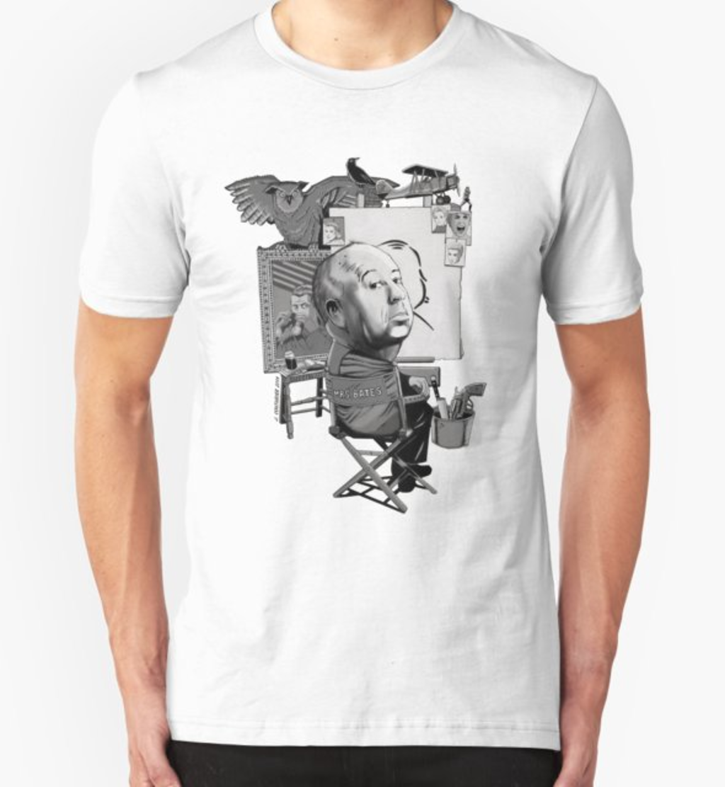 RedBubble: Alfred Hitchcock