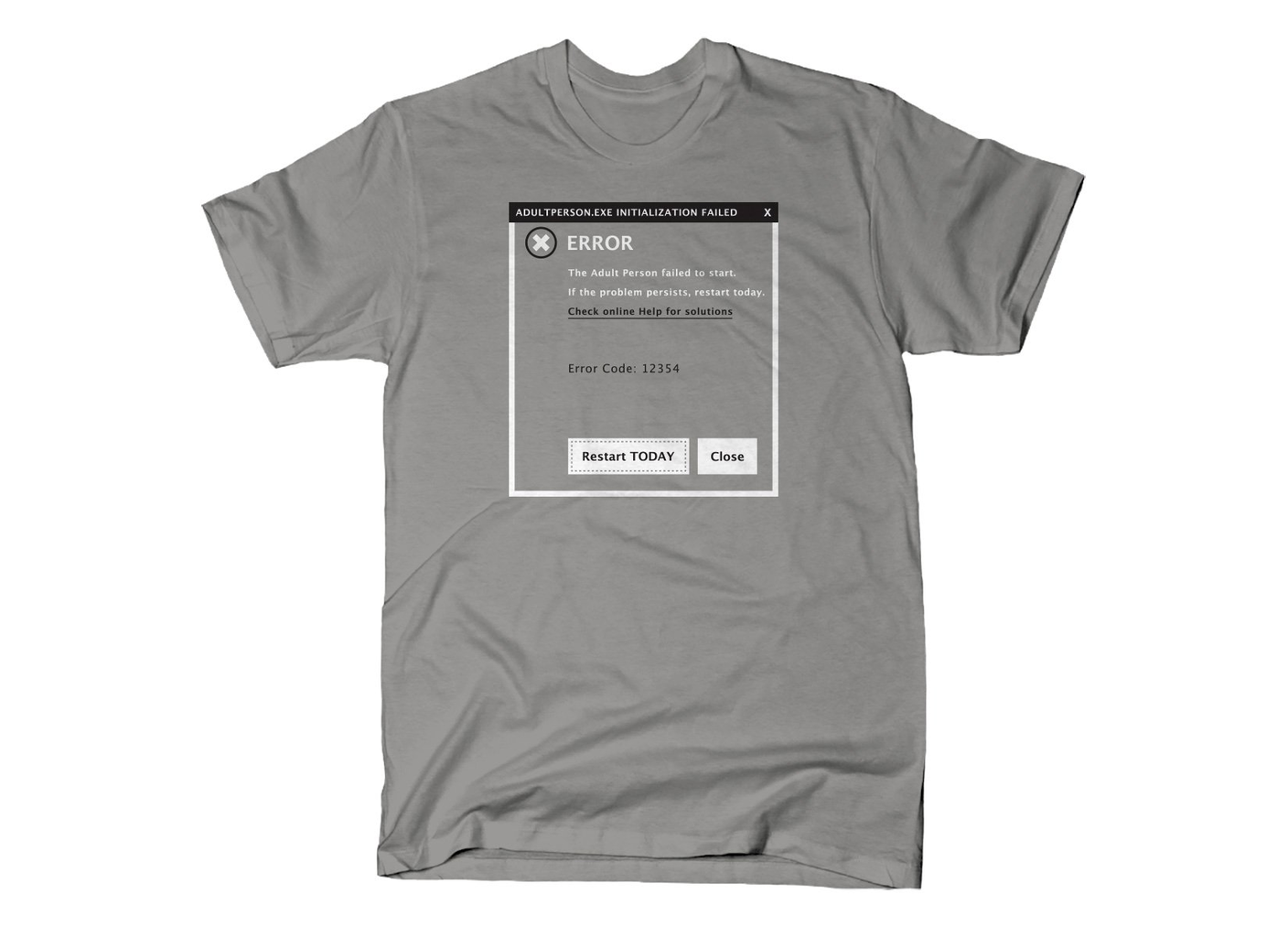 SnorgTees: Error, Adult Person Failed To Start
