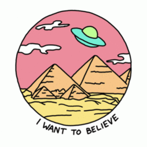 BustedTees: I Want to Believe (retro)