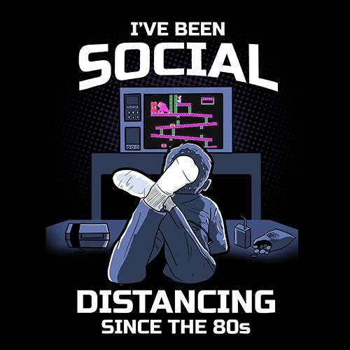 BustedTees: Social Distancing 80s