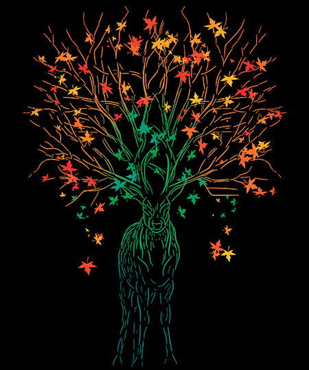 Qwertee: The Stag