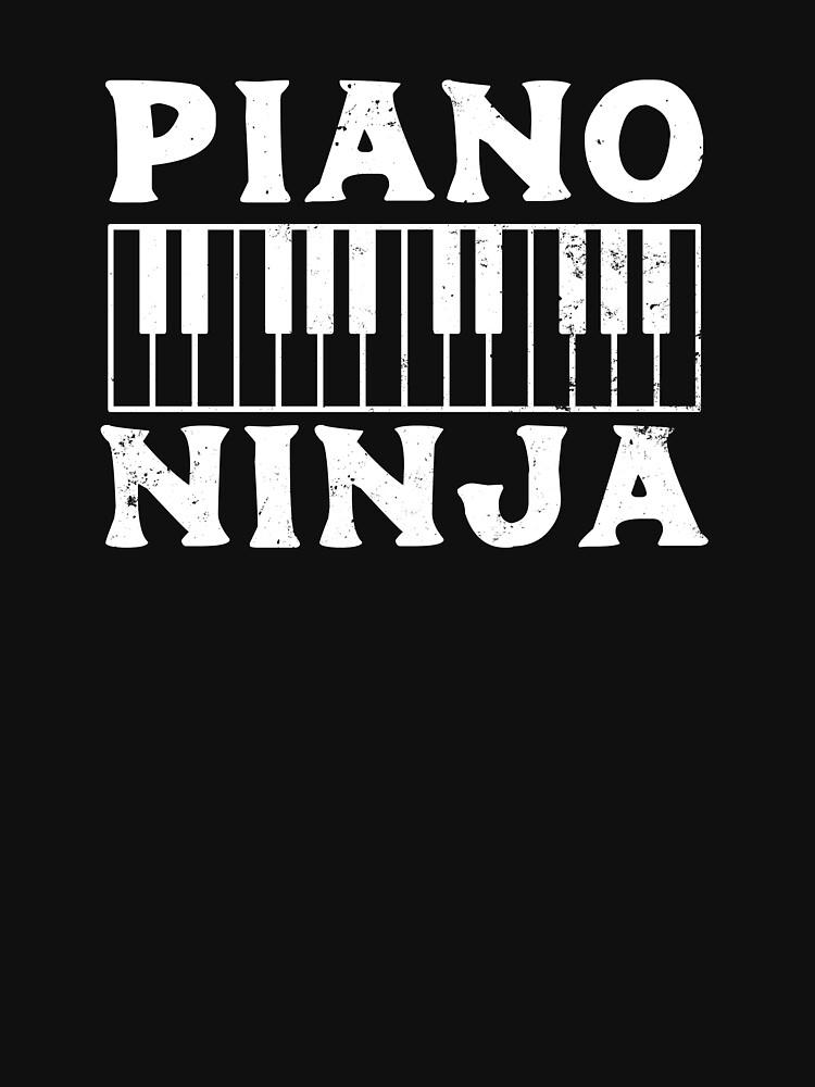 RedBubble: Jazz Piano Shirt | Piano Ninja Gift