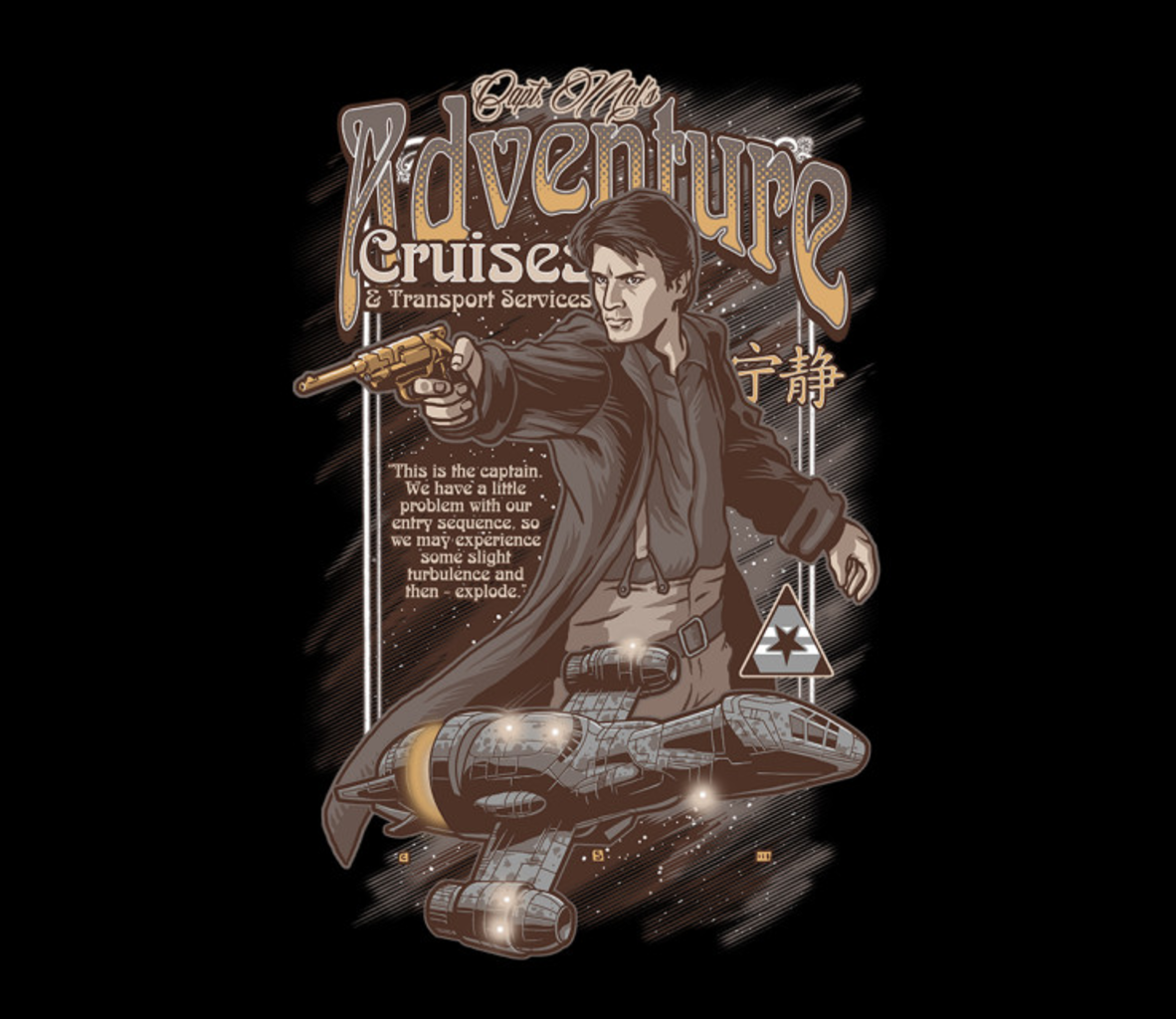 TeeFury: Mal's Adventure Cruises
