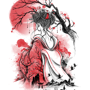 Qwertee: Geisha dream