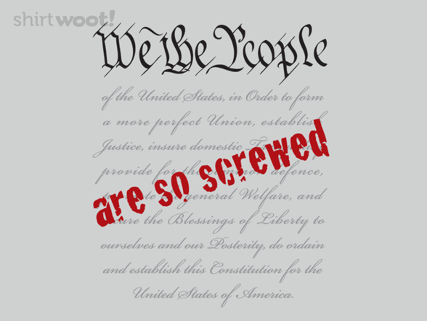 Woot!: We The People