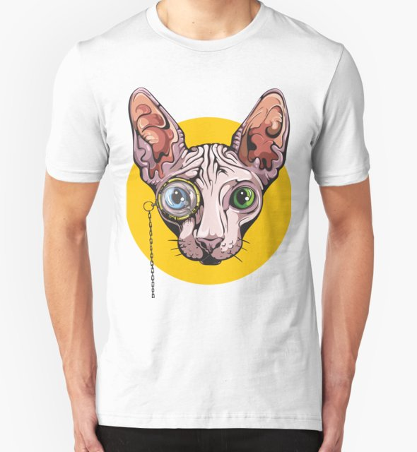 RedBubble: Sphinx Cat with Monocle