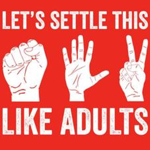 Textual Tees: Lets Settle This Like Adults T-Shirt