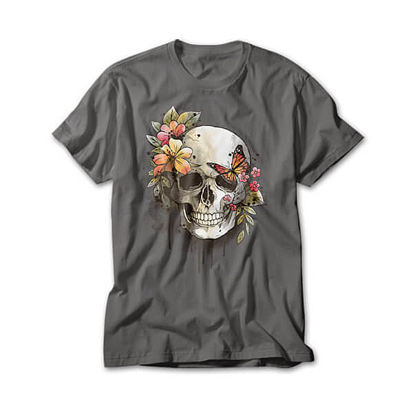 OtherTees: spring skull watercolor