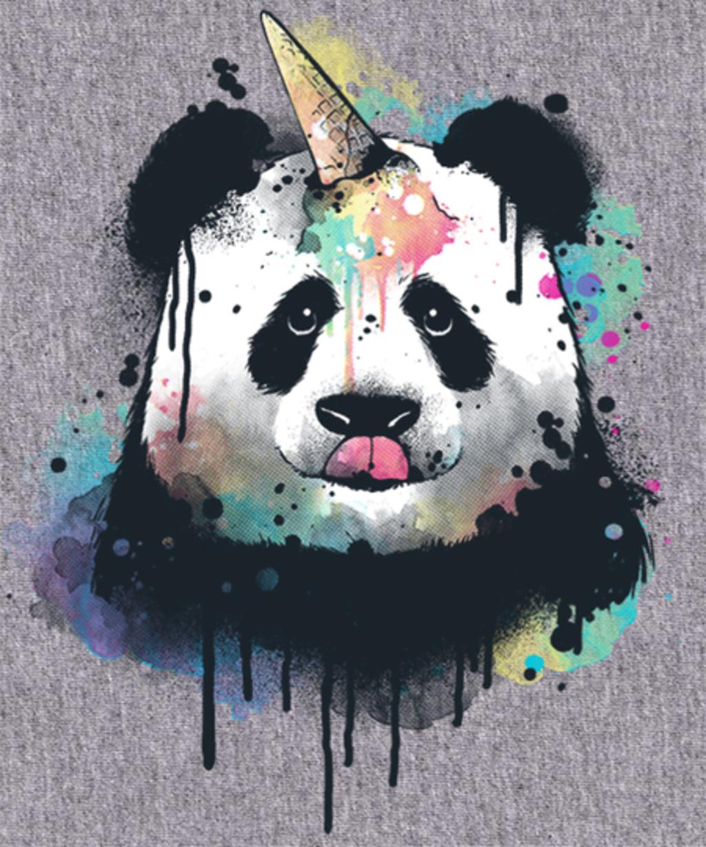 Qwertee: Ice cream pandacorn