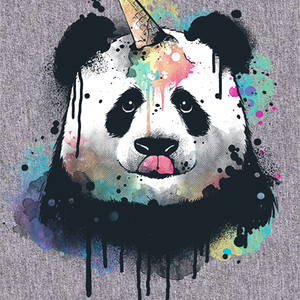 Qwertee: Ice cream pandacorn