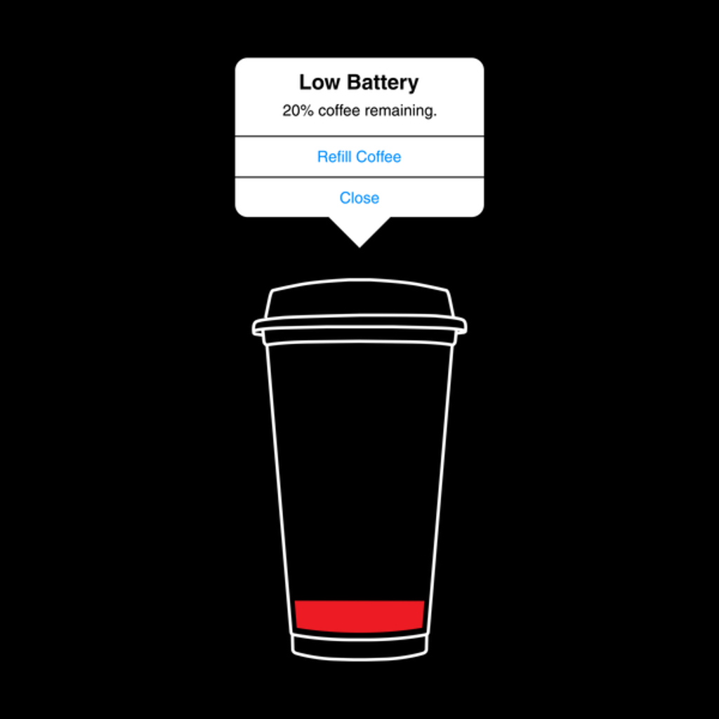 NeatoShop: Low battery, refill coffee