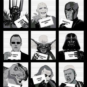 Qwertee: Villains movies jail
