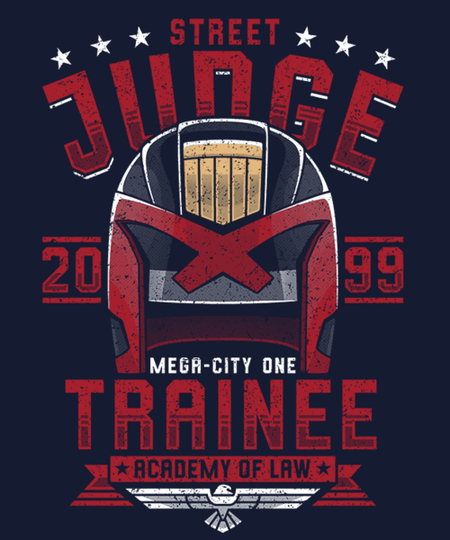 Qwertee: Street Judge Trainee