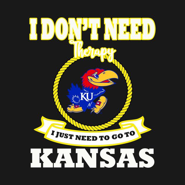 TeePublic: I Don't Need Therapy Kansas